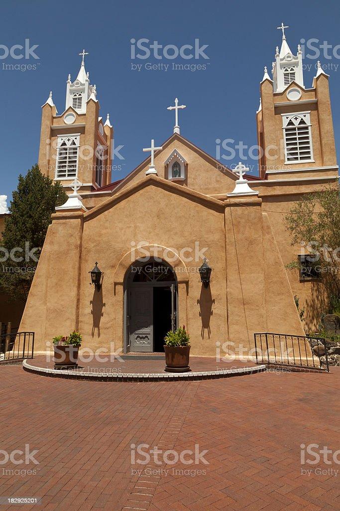 San Felipe Church, Albuquerque New Mexico stock photo