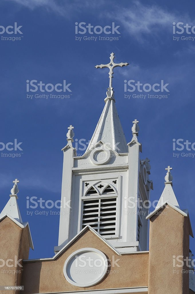 San Felipe de Neri Church Steeple stock photo