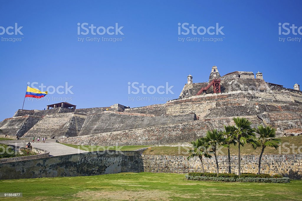 San Felipe 、カルタへナ砦 - まぶしいのロイヤリティフリーストックフォト