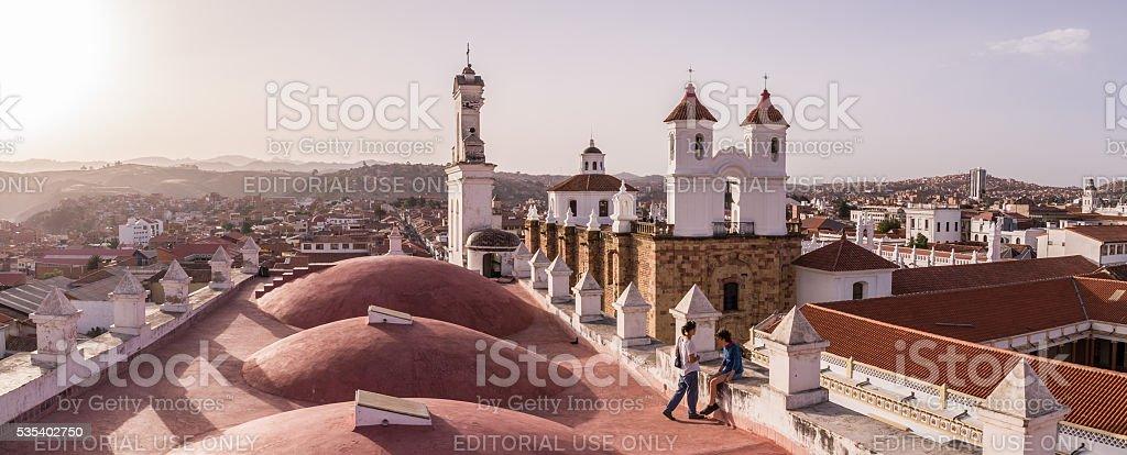 San Felipe Neri monastery in Sucre, Bolivia stock photo