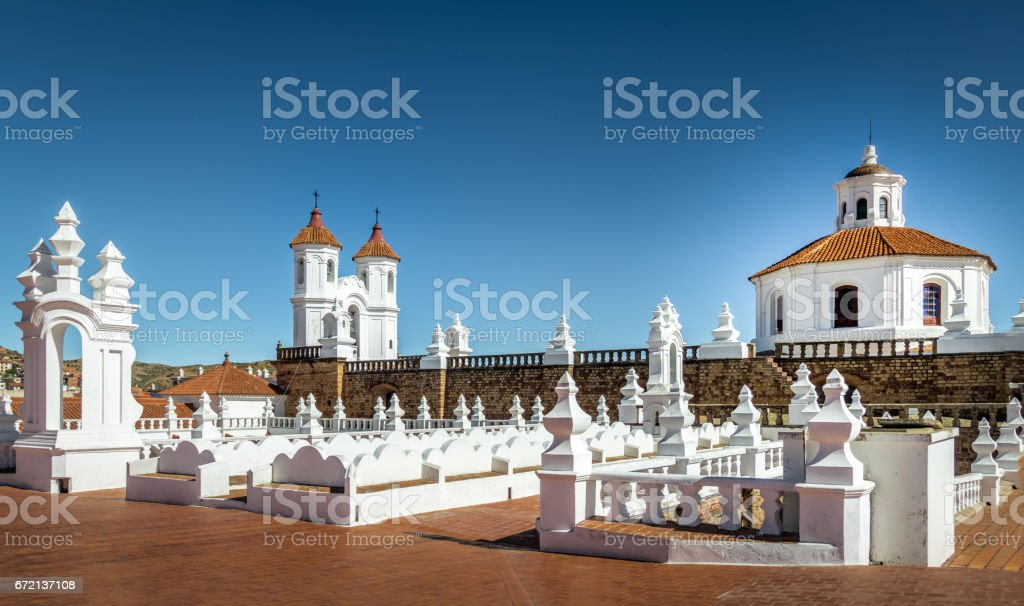 San Felipe Neri Monastery Terrace - Sucre, Bolivia stock photo
