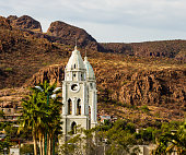 San Fernando Cathedral in Mexico. The cathedral is the oldest in Guaymas city.