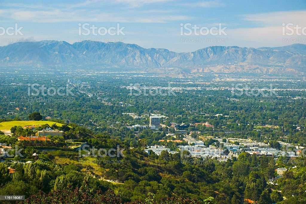 San Fernando Valley Aerial View stock photo