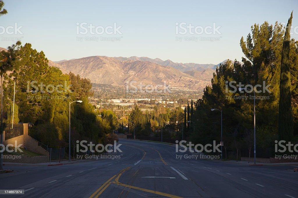 San Fernando Valley at Dusk royalty-free stock photo