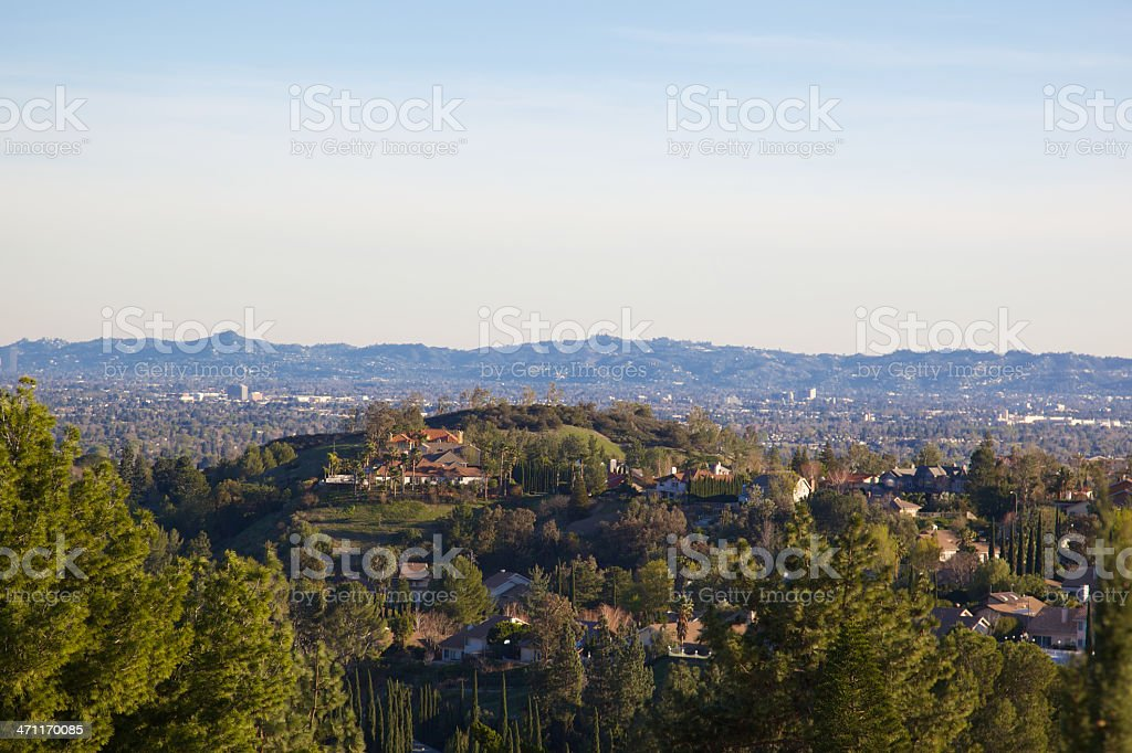 San Fernando Valley at Dusk stock photo