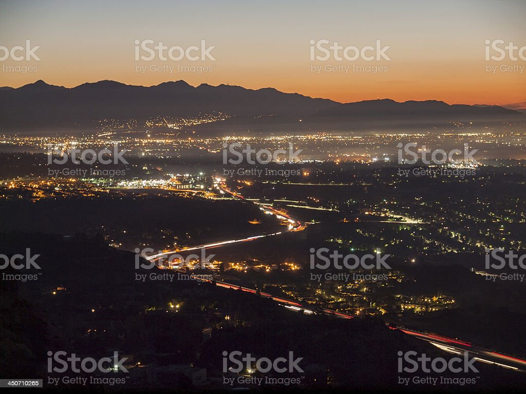 San Fernando Valley Day Break stock photo