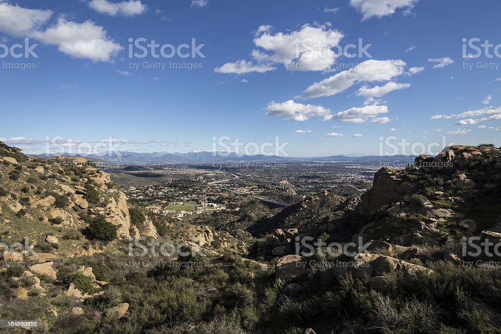 San Fernando Valley in Los Angeles, California stock photo