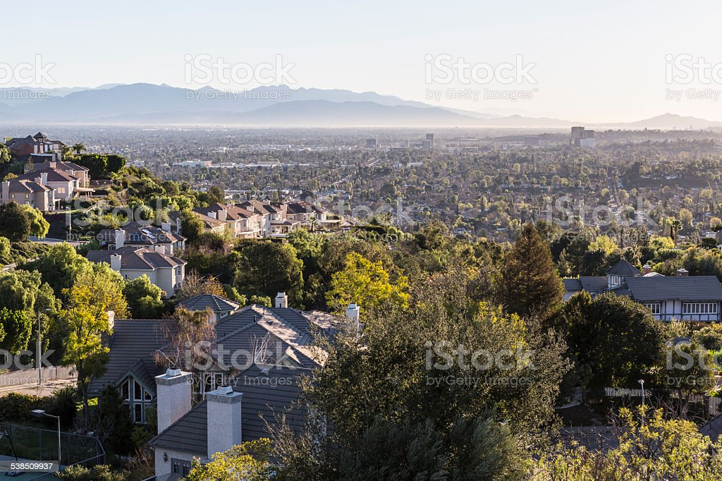 San Fernando Valley in Los Angeles stock photo