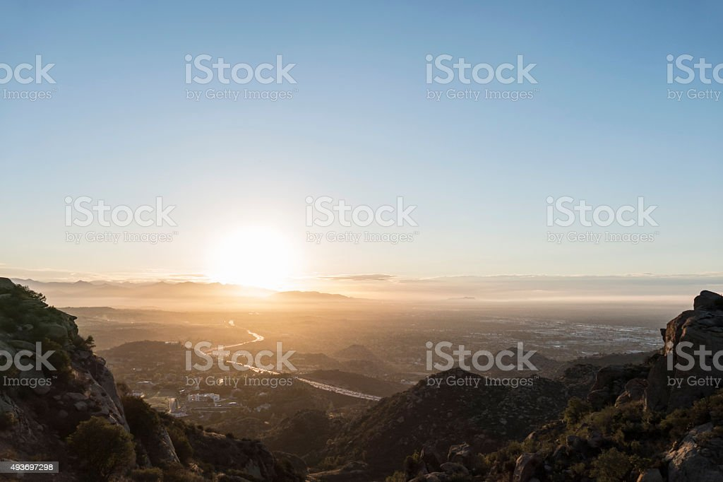 San Fernando Valley Los Angeles Sunnrise stock photo