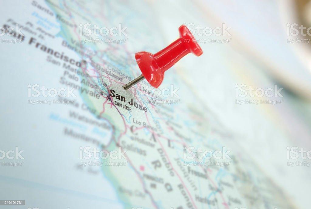San Fran and San Jose stock photo