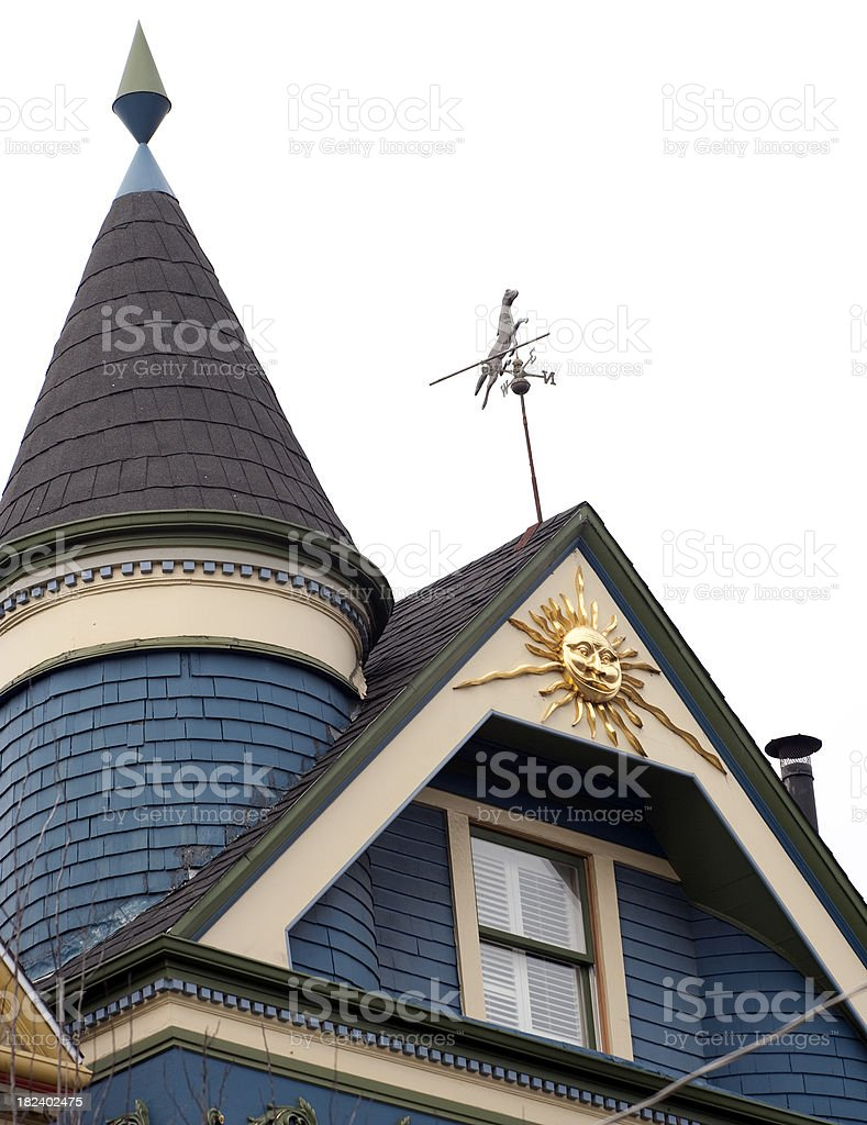 San Fran Rooftop stock photo