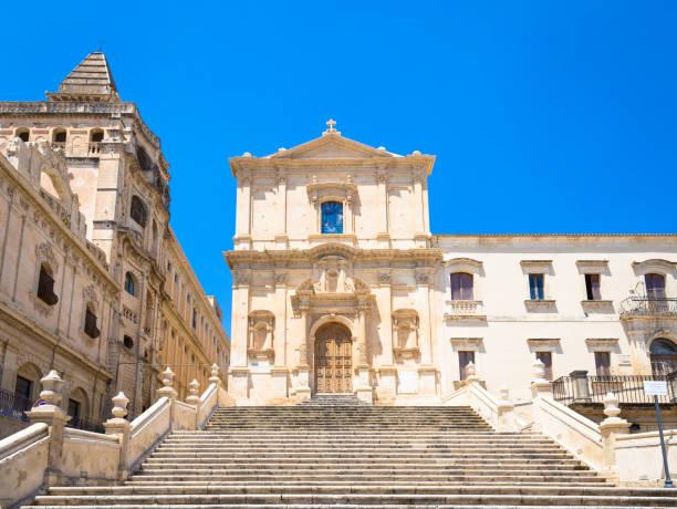NOTO, ITALY - San Francesco D'Assisi church stock photo