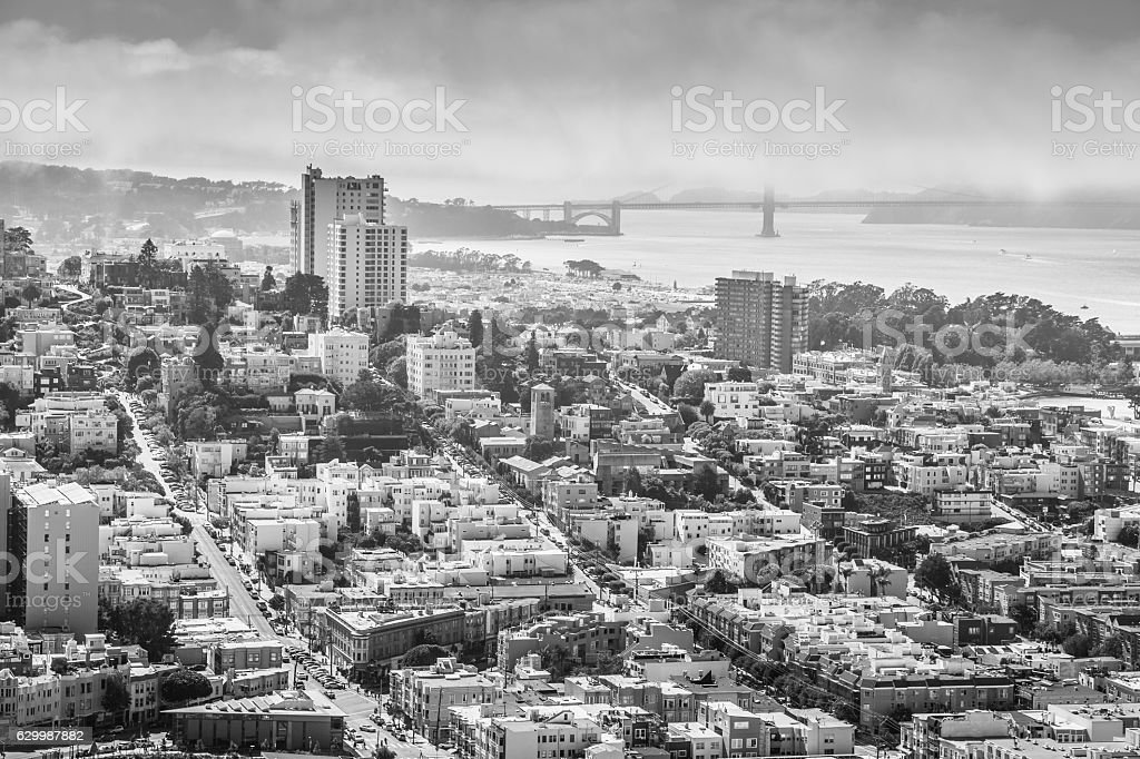 San Francisco aerial stock photo