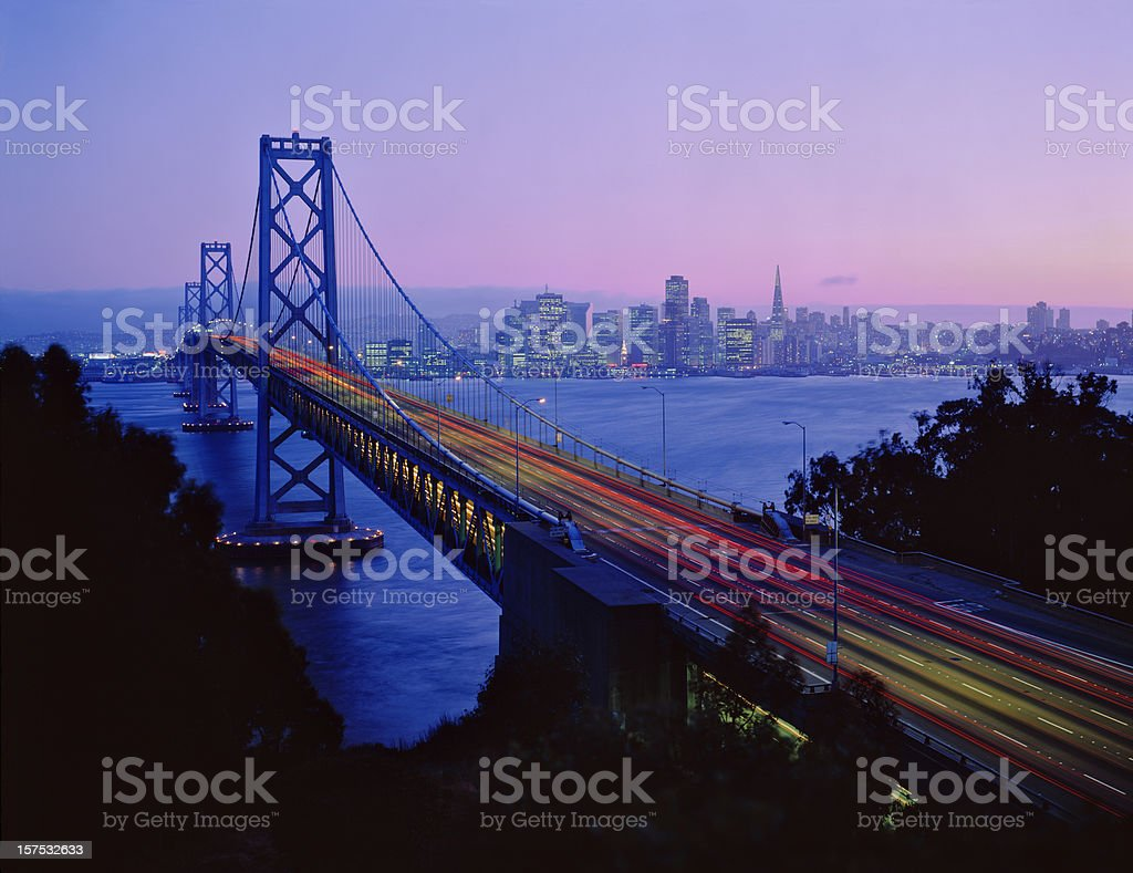 San Francisco  and  Bay Bridge royalty-free stock photo