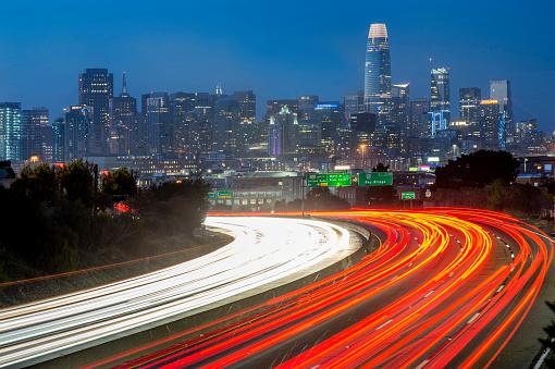 Downton San Francisco and Highway 101.
