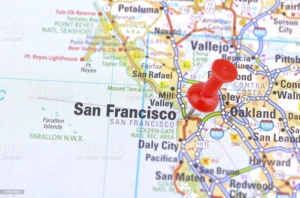 Royalty Free San Francisco Ca Map Pin Pictures Images and Stock