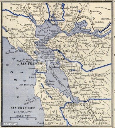 istock San Francisco Antique Map. 90938642