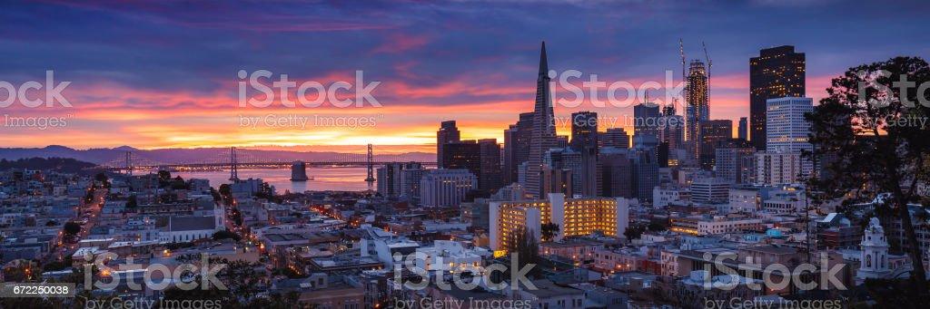 San Francisco at Dawn stock photo