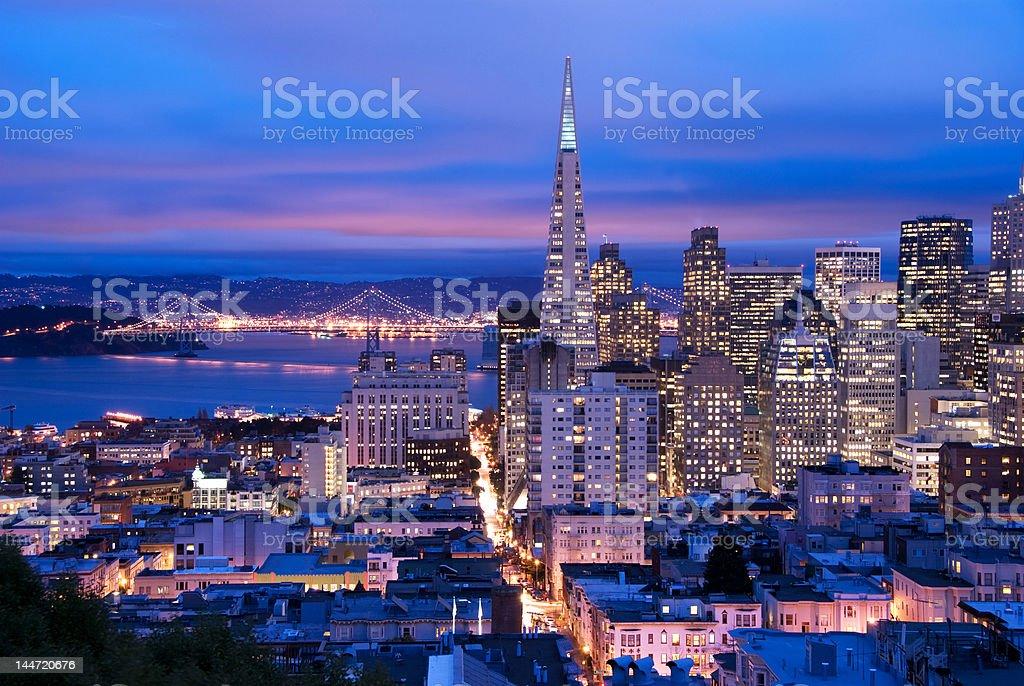 San Francisco at dusk royalty-free stock photo