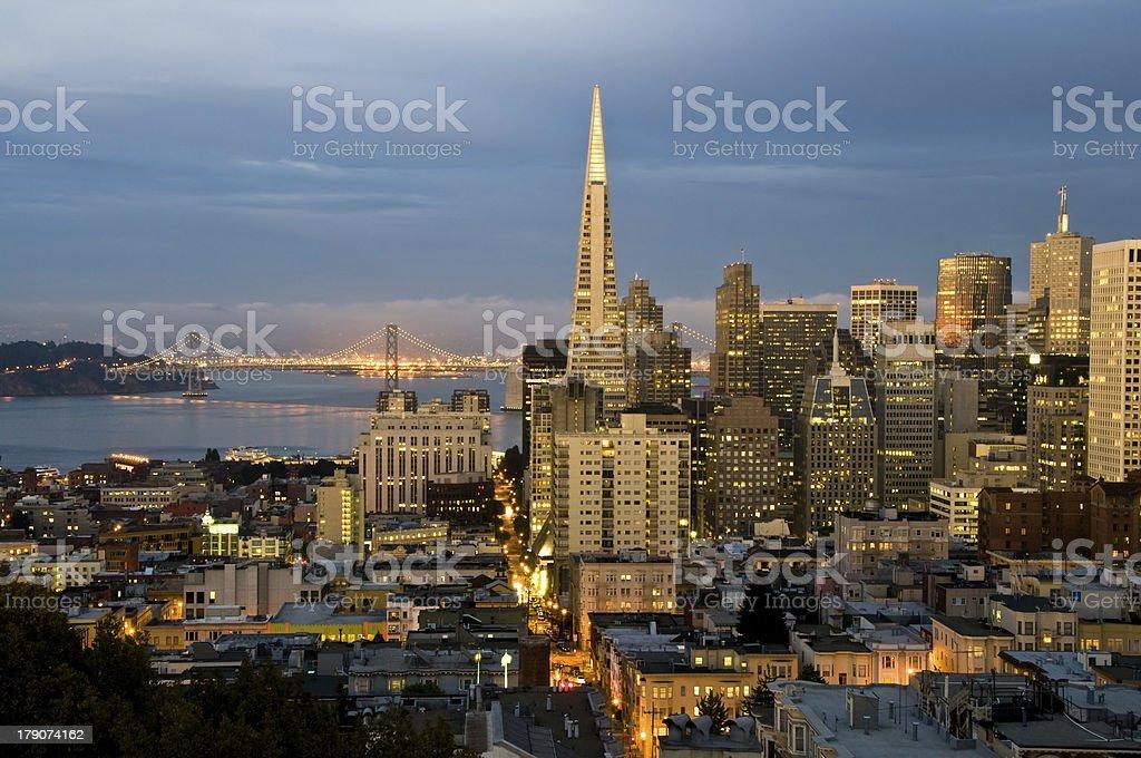 San Francisco at dusk XL stock photo