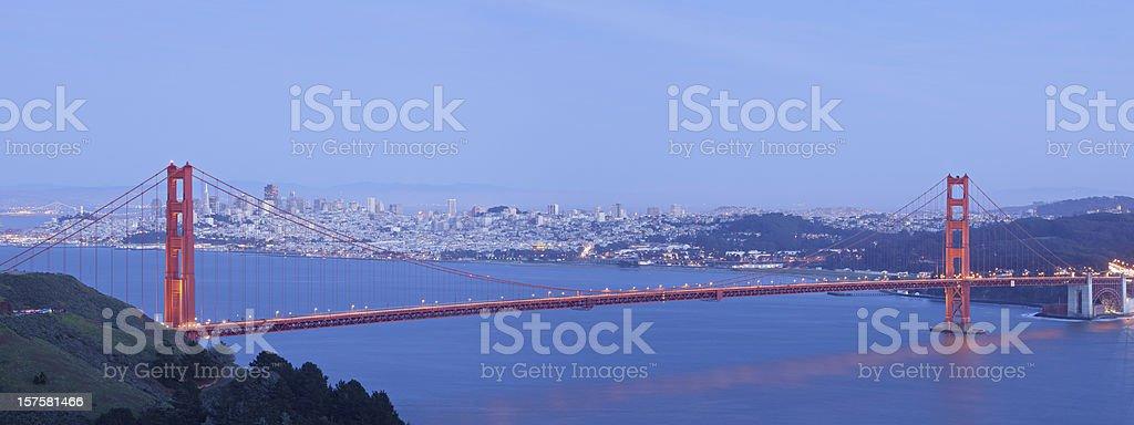 San Francisco at Night royalty-free stock photo