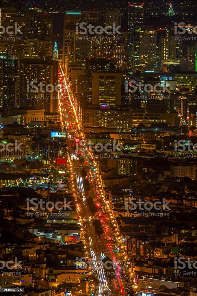 San Francisco at Ninght stock photo