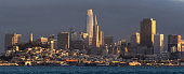 Panoramic of San Francisco at Sunset