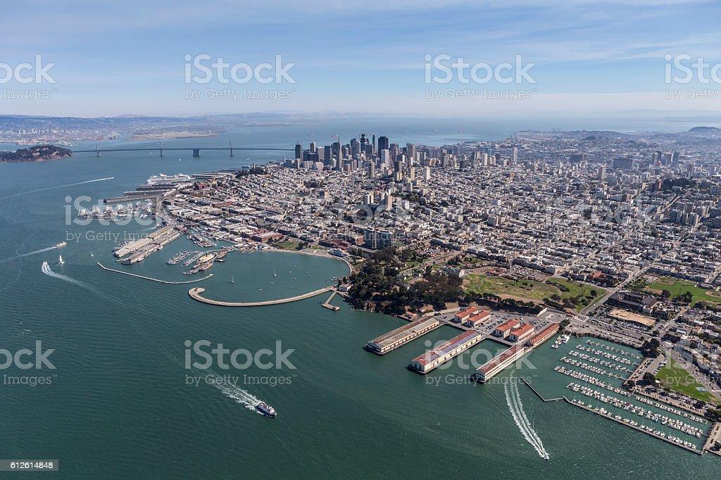 San Francisco Bay Aerial stock photo