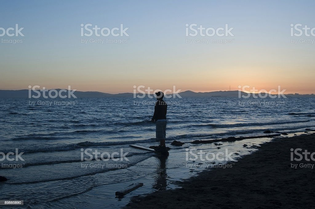 San Francisco Bay and Fisherman series royalty-free stock photo