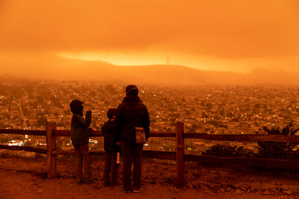 San Francisco Bay Area  Air Quality stock photo