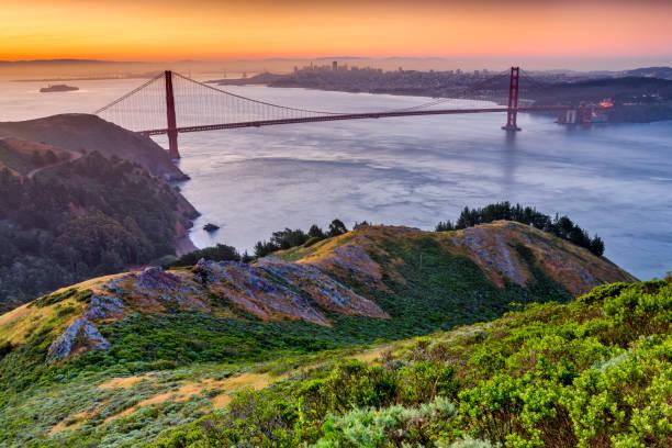 San Francisco Bay area in California The Golden Gate Bridge and Bay area in San Francisco California san francisco bay stock pictures, royalty-free photos & images