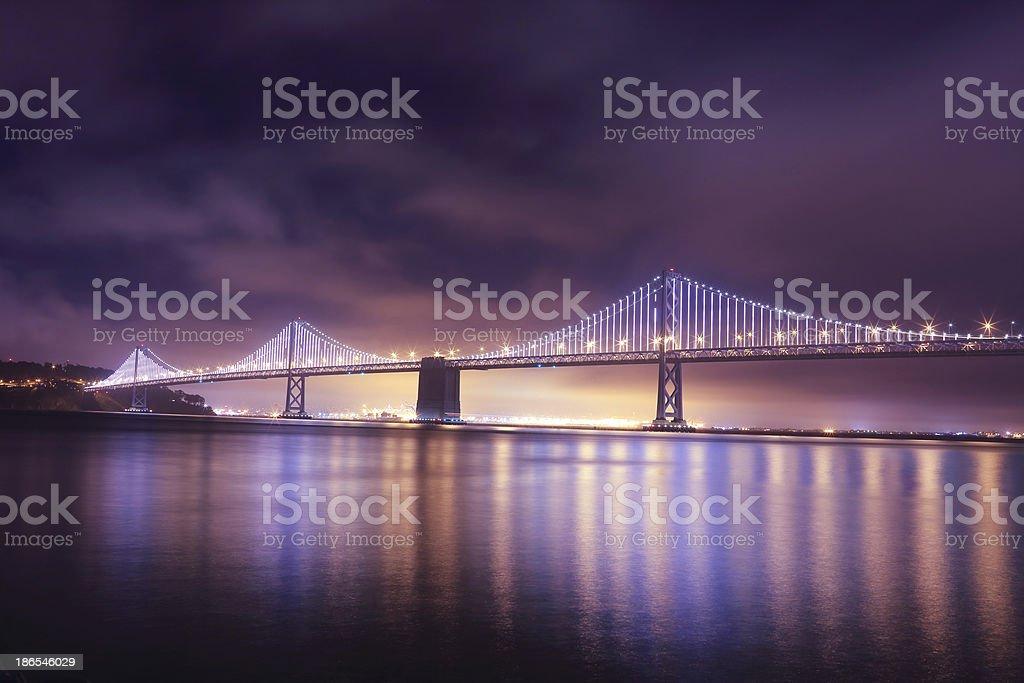 San Francisco: Bay Bridge from Embarcadero stock photo