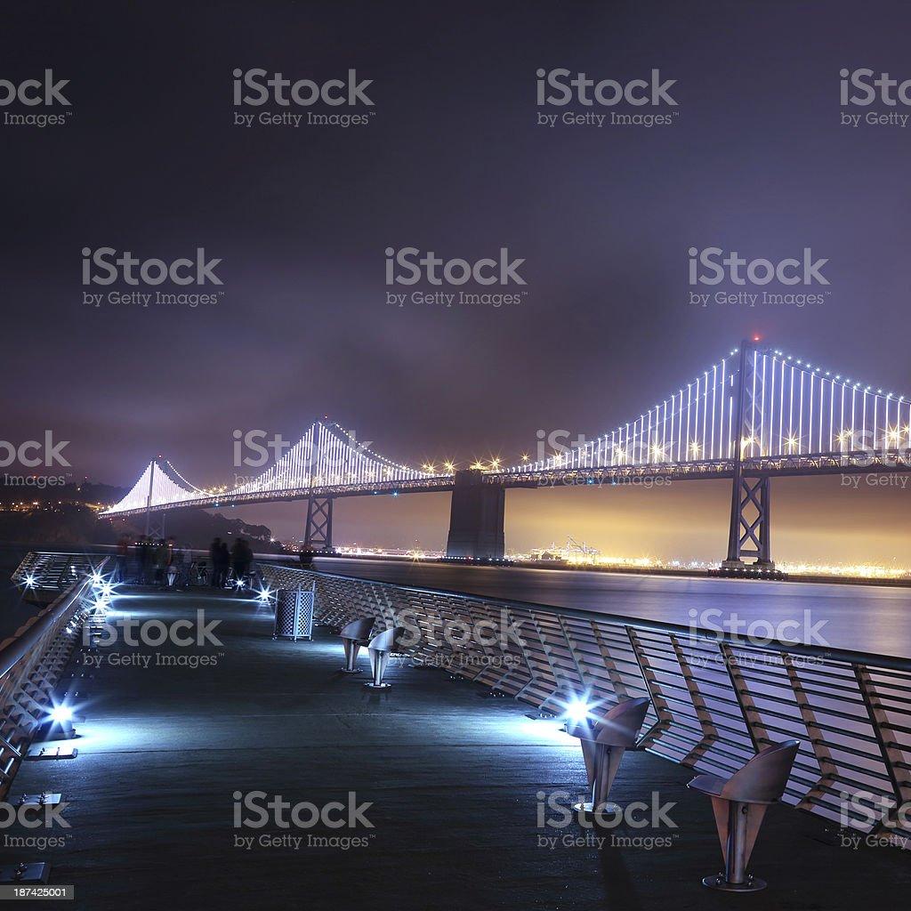San Francisco: Bay Bridge from Embarcadero royalty-free stock photo