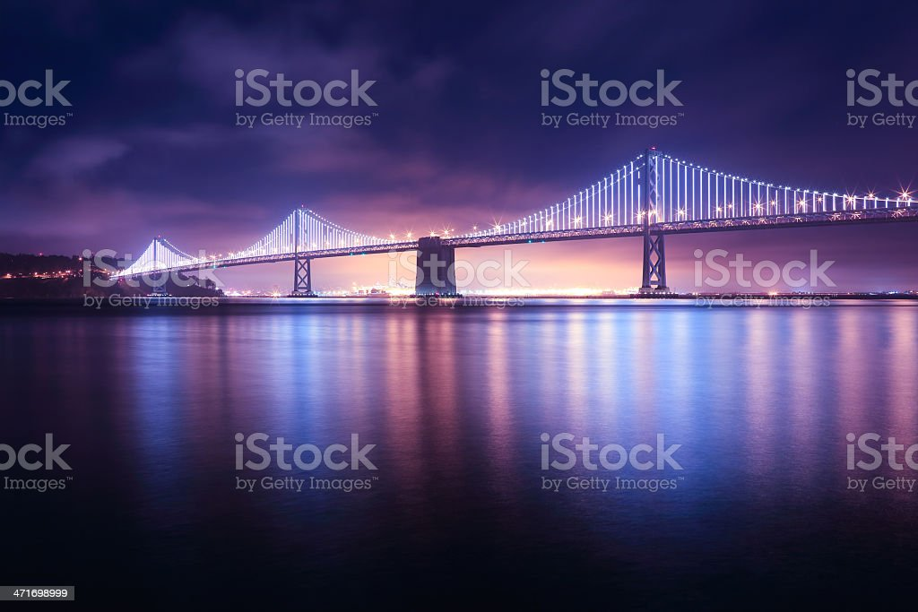 San Francisco: Bay Bridge from Embarcadero stock photo
