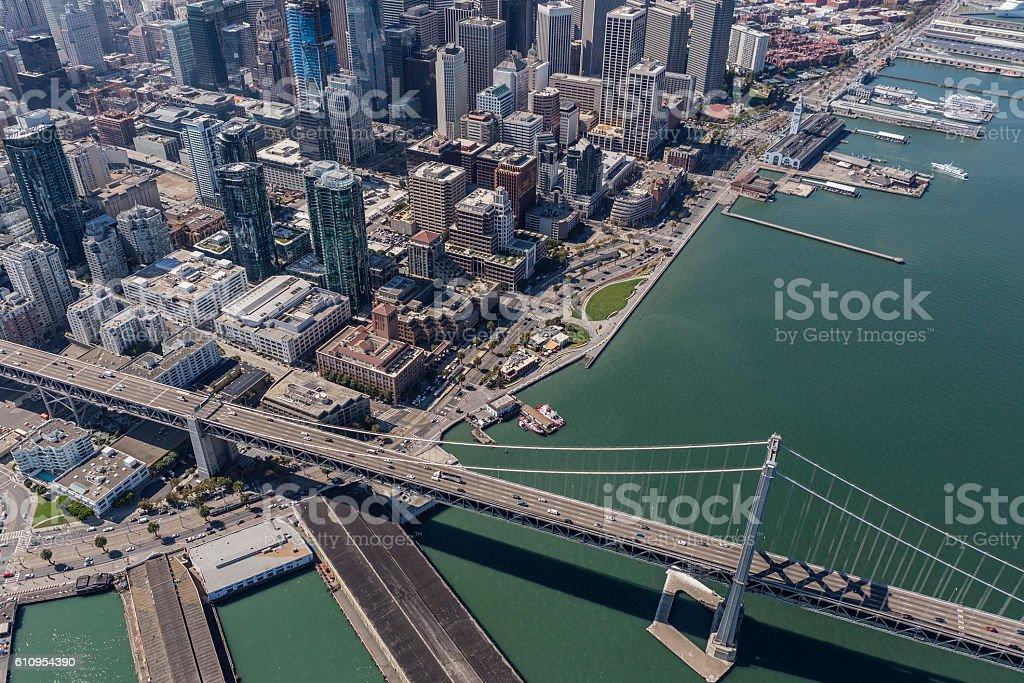 San Francisco Bay Bridge Highway stock photo