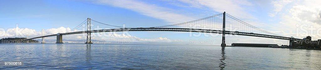 San Francisco Bay Bridge Panorama royalty-free stock photo