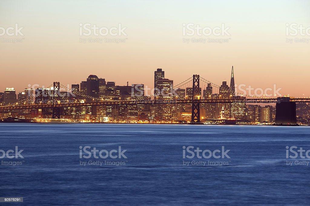 San Francisco Bay Bridge Skyline stock photo