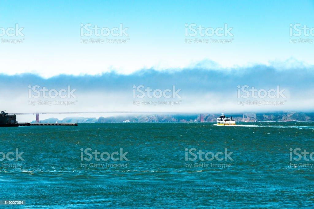 San Francisco Bay Golden Gate Bridge stock photo