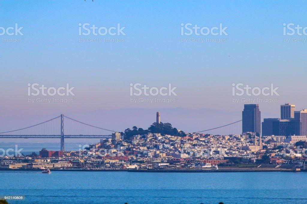 San Francisco Bay Skyline stock photo