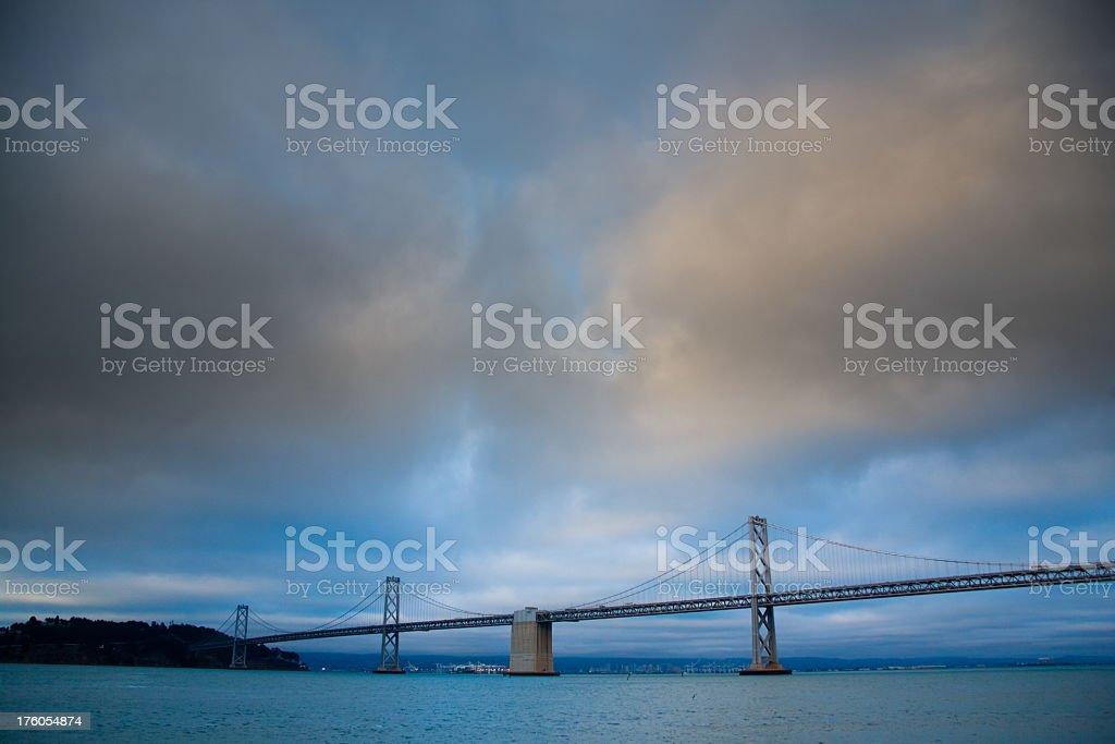 San Francisco Bay with Bridge royalty-free stock photo