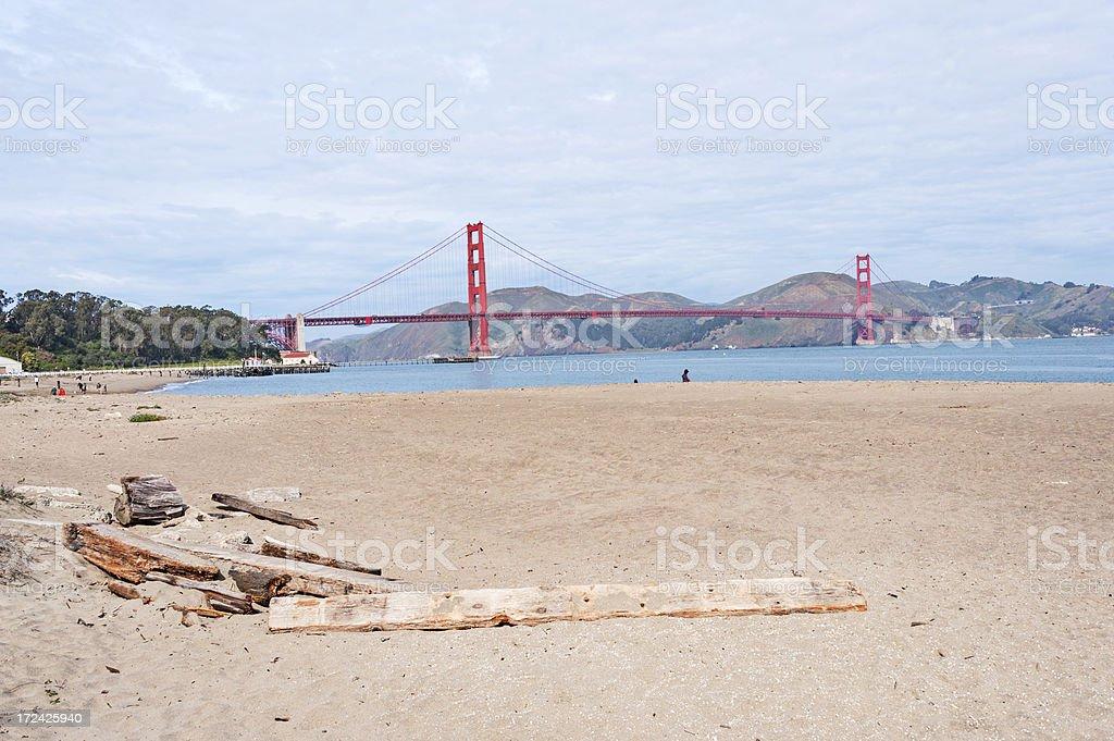 San Francisco Beach royalty-free stock photo