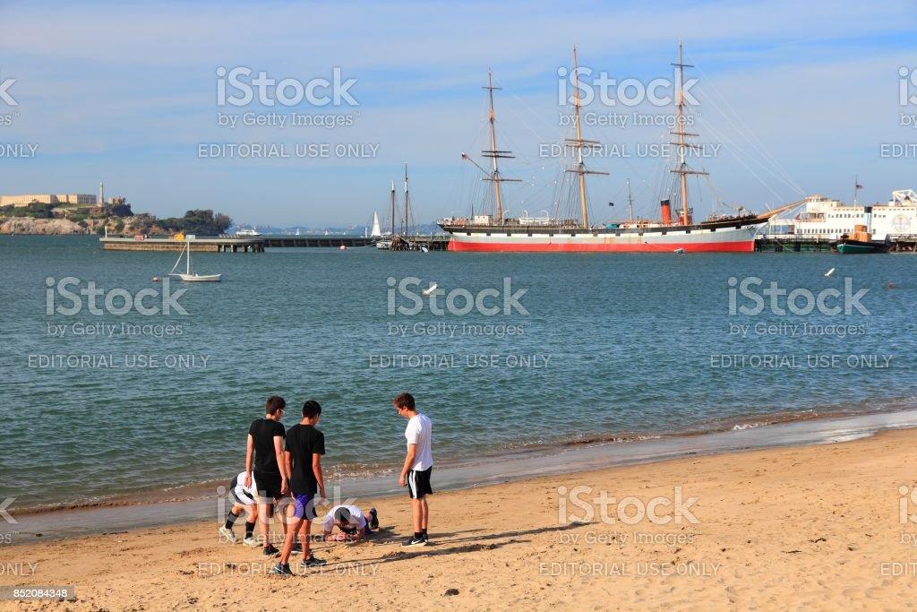 San Francisco beach stock photo