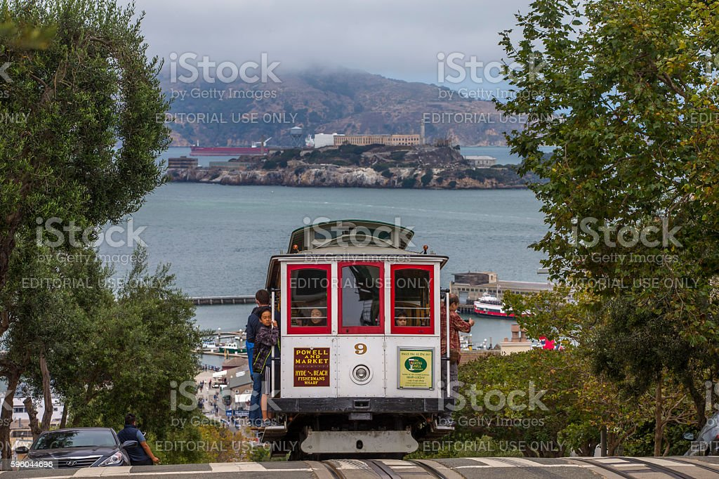 San Francisco Cable Car Alcatraz Island stock photo
