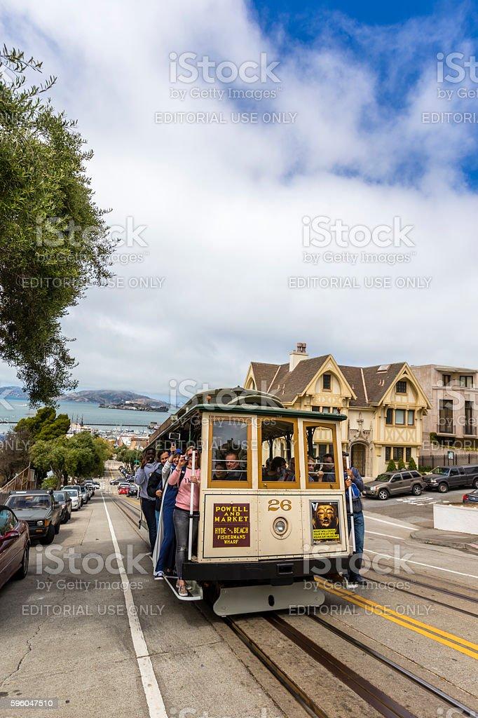 San Francisco Cable Car Alcatraz Island royalty-free stock photo