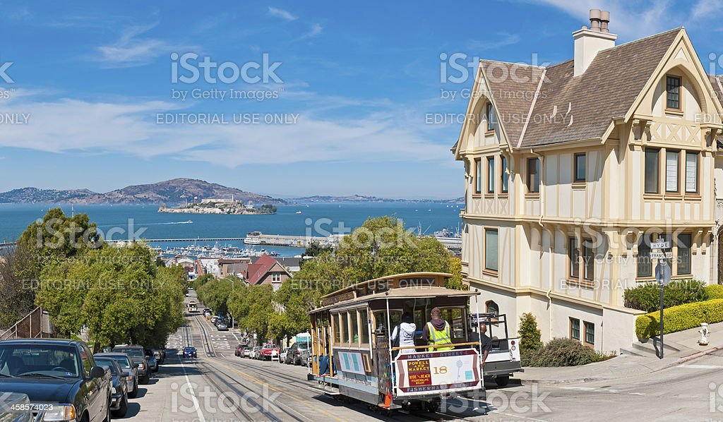San Francisco cable car California stock photo