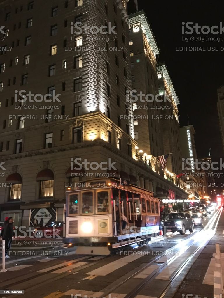 San Francisco cable cars stock photo