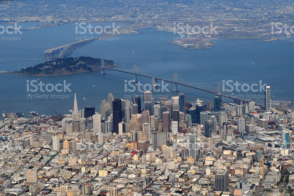 San Francisco, California, aerial view stock photo