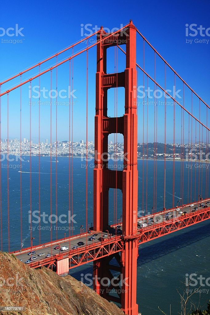 San Francisco California and the Golden Gate bridge royalty-free stock photo