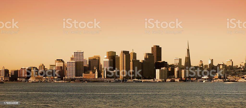 San Francisco, California  at sunset royalty-free stock photo