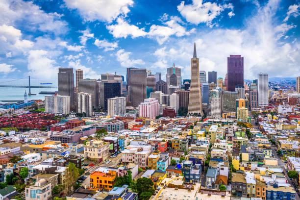 San Francisco, California, USA Skyline stock photo